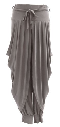 Ladies Womens Lagenlook Layering Dhoti Tie Drape Pleated Loose Baggy Boho Harem Ali Baba Trouser Pants Leggings Joggers (One Size, Burgundy): Amazon.co.uk: Clothing