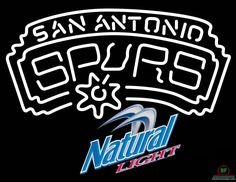 Natural Light San Antonio Spurs Neon Sign NBA Teams Neon Light