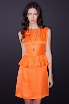 Peplum dress from 100% vintage silk.$245 on Ethical Ocean. #vintage #sustainablefashion #madeinusa