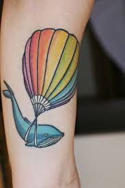 What does hot air balloon tattoo mean? We have hot air balloon tattoo ideas, designs, symbolism and we explain the meaning behind the tattoo. Whale Tattoos, Weird Tattoos, Time Tattoos, Unique Tattoos, Beautiful Tattoos, New Tattoos, Tatoos, Amazing Tattoos, Piercing Tattoo