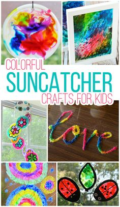 We have tons of windows these would be perfect for!! 15 Colorful Suncatcher Crafts the Kids Will Love!