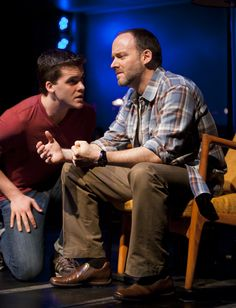 "Jonathan Shew and Joe Cassidy as Gabe and Dan in ""Next To Normal"" at Arizona Theatre Company."