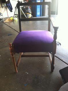 Velvet seat complete