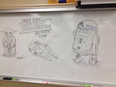 Another example of some fairly impressive whiteboard drawing to liven up a…