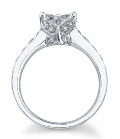18KW Setting w/Calla Cut Diamonds (1.14ct.tw.) $3810.00  I have been in awe of these for years because of the butterfly and the lily..