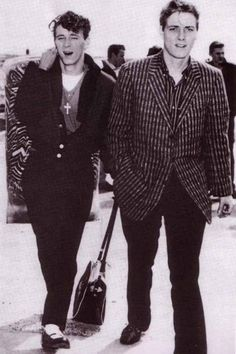 Gene Vincent and Eddie Cochran,  1950s  Two of Rock and Rolls early greats!