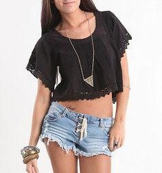 this is so summery Fall Shirts, Lifestyle Clothing, Shoulder Shirts, Pacsun, Denim Shirt, Roxy, Button Down Shirt, Plaid, Crop Tops