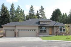Hayden Homes Snowbrush in Eagle Ridge. 4 Bedrooms 2 Bath 3 Car Garage all on one floor. 2046 Sq ft.