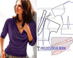 O modelo de blusa drapeado é um clássico que faz parte do guarda-roupa de qualquer mulher de bom gosto.