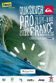 Etape incontournable du circuit d'élite du surf masculin ASP World Tour réunissant les 32 meilleurs surfeurs du monde, le Quiksilver Pro France est une manche cruciale dans la course au titre de Champion du Monde.    L'événement accueille les stars du surf mondial du 28 septembre au 08 octobre dans les Landes tout en fêtant sa 11e édition, et nous y serons !    Plus d'infos sur Ride Sessions http://www.ridesessions.com/2012/09/quiksilver-pro-france-2012/