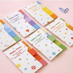 2 Colorful Cute sticky notes,memo pads memo sticker for DIY scrapbook decoration,bookmark,paper working,wedding party deco-Pattern Random