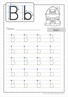 Phonics Letter of the Week Bb FREE. A HUGE unit pages) with all that you need for a letter of the week curriculum. A page from the unit: Handwriting practice page Letter Worksheets For Preschool, Alphabet Tracing Worksheets, Alphabet Phonics, Preschool Writing, Handwriting Worksheets, Preschool Learning Activities, Preschool Letters, Kindergarten Worksheets, Tracing Letters