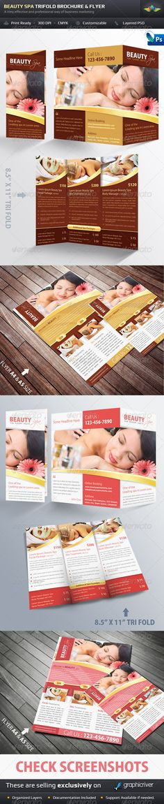 Beauty Spa Trifold Brochure & Flyer Pack