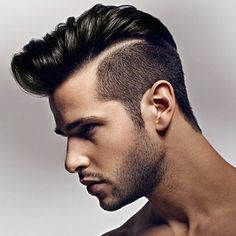 Men hair fashion trends 2015 2016 Beard & Short Sides, long top with designs. Men's Hair Trends  Givenchy. YES