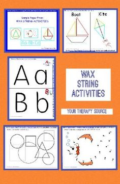 Wax String Activities Free Sample Page