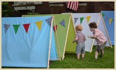 camping birthday party tents