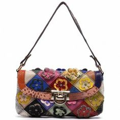 Cute Small Patchwork Bag with Flowers!