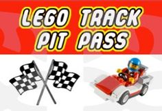 Lego Logo Track Pit Passes for a Lego Race Car Themed Birthday Party!