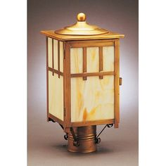 Northeast Lantern Lodge 1 Light Lantern Head Finish: Raw Brass, Shade Type: Clear Seedy