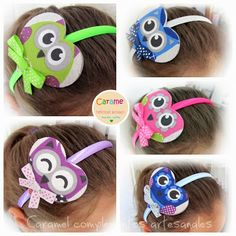 "DIADEMAS INFANTILES COLECCION ""BUHITOS"""