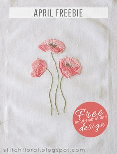 Dancing poppies: hand embroidery freebie!