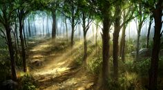 Woods by JoakimOlofsson on DeviantArt  Beautiful art...absolutely gorgeous!