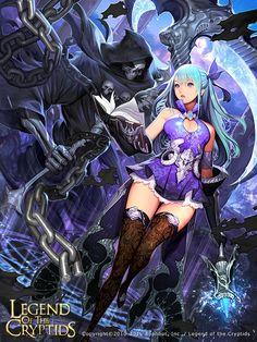 Artist: Lee Jong-chul aka MandRill - Title: Death God Hunter Animi - Card: Death God Hunter Animi