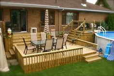 Above Ground Pools Decks Idea   2007/2013Patio Plus inc. All Rights reserved