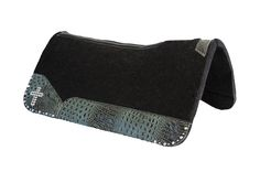 Best Ever Pads OG Wool - Turquoise Croc Leather - Crystal Cross, Custom, Rodeo, One of a Kind, Saddle Pads, Horse Tack www.BestEverPads.com