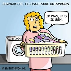 huisvrouwen dogma: ik was. Cartoon Jokes, Cartoons, Funny Cute, Hilarious, Funny Memes, Weed Humor, Pun Card, Just For Laughs, Laugh Out Loud