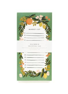 Don't forget a thing with Rifle Paper Co. handy shopping pads.