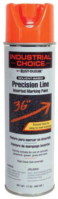 RUSTOLEUM 203027 - 17 oz. Precision Line Inverted Marking Paint Fluor. Orange