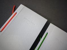 Mini McGhee hand bound portfolio