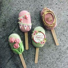 Cakepops, Ice Cream Pops, Ice Pops, Cookie Pops, Magnum Chocolate, Paletas Chocolate, Magnum Paleta, Cake Pop Designs, Chocolate Covered Treats