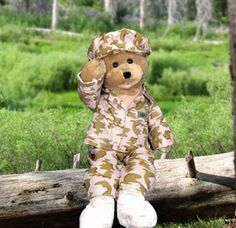 America GI Hero Gift Box ~ Send your Hero our American GI Hero! This patriotic 22 inch American GI Plush Bear sing 'God Bless The USA'! His mouth moves and he sways back and forth as he sings! Pet Gifts, Baby Gifts, Animal Delivery, American Soldiers, American Flag, American Spirit, American Pride, Military Gifts, Cute Stuffed Animals