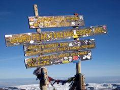 Peak of Mount Kilimanjaro [Geography Awareness Week 11/2013]