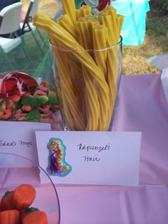 Disney Princess party - Rapunzel's hair
