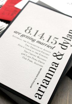 Urban Elegance  Modern Wedding Invitations Elegant by BeaconLane, $4.50