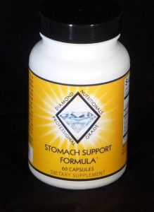 Stomach Support -Zinc Carnosine to heal the gut lining, berberine to inhibit bacterial overgrowth, mastic gum to fight H.Pylori