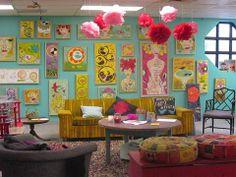 Art studio space of Cindy Wunsch in Nashville, TN.