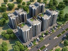 3D Residential Building Day View Design