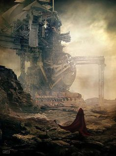 """""""Heading to Nowhere"""" Steampunk Concept Artwork."""