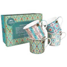Check this out!! The Kitchen Gift Company have some great deals on Kitchen Gadgets & Gifts Persian Textile Mug Set - Set of 4 #kitchengiftco