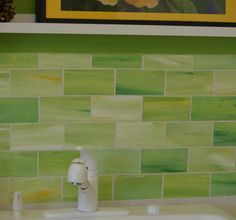 2014 Lime Green Glass Tile Backsplash : Coolest Lime Green Glass ...