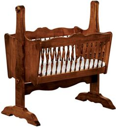 33% OFF Amish Furniture - Hand Crafted Shaker and Mission Furniture Online Outlet Store: Classic Baby Cradle: Oak