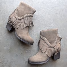 sbicca vintage collection suede patience fringe booties