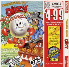 """Treasure Island Dizzy"" cover. Retro Gamer, Old Games, Treasure Island, Gaming Computer, Covered Boxes, Box Art, Bmx, Arcade Games, Cover Art"
