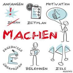 Vektor: Machen, Anfangen, Motivation, Aufschieberitis, vorsätze