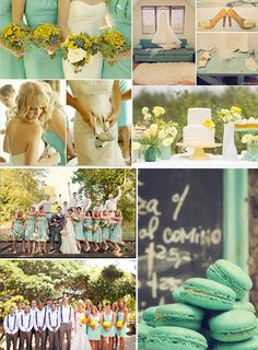 lemon and mint color scheme, not the wedding part just the colors for my room Yellow Wedding, Wedding Colors, Dream Wedding, Wedding Day, Wedding Things, Wedding Wishes, Friend Wedding, Mint Color Schemes, Marry Me