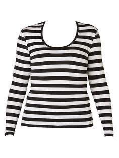 Tani - Stripe Long Sleeve Scoop